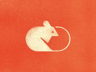White mouse geometric natural history sign logo design mouse animal icon mark illustration nature symbol logo