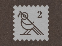 Blackbird stamp