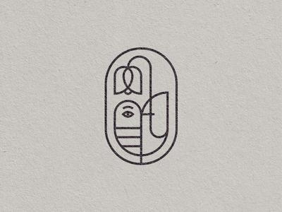 Cuckoo & Campanula bird icon birds animals geometric nature logo design illustration mark sign logo