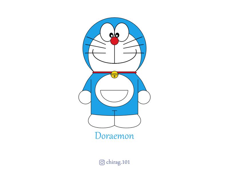 Doraemon doraemon cat robot cartoon animation vector design illustration doraemonnobita shizuka nobita