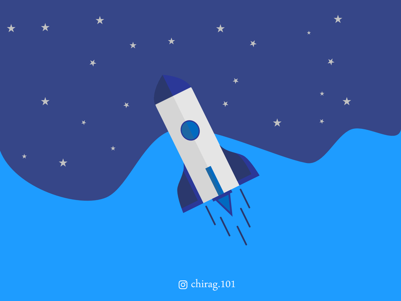 Rocket Illustration 🚀 illustration rocketscience astronomy earth iss mars universe launch astronaut dribbble graphicdesign moon falcon elonmusk science spacex nasa space   rocket