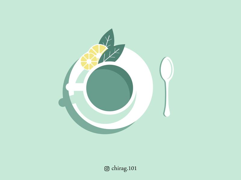 Mint Tea Illustration digitalart graphicdesign healthylifestyle tealove teacup healthy foodie teaaddict tealover teatime mint minttea chaikecharsi chaiwala chai cafe lemonade greentea tea lemontea