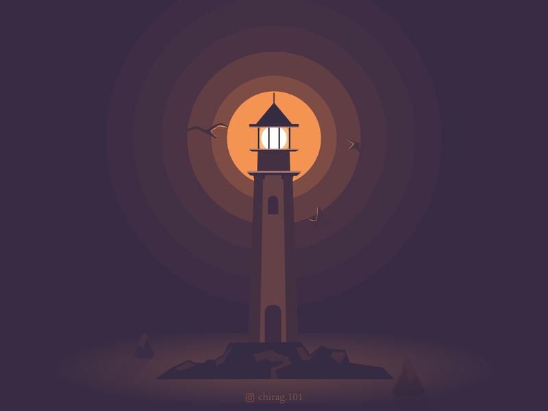 Lighthouse ⛯ illustration graphicdesign pirates night day sky captures art photooftheday light ocean landscape travel sea nature lighthousesofinstagram lighthouses lighthouse