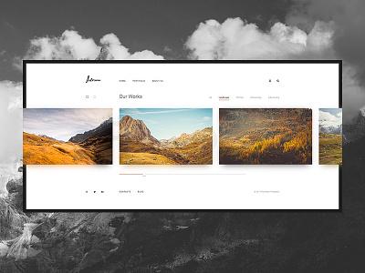 Laterna - Gallery web design portfolio gallery site web clear simply simple