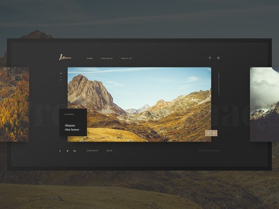 Laterna - Dark version design web site simply simple portfolio gallery dark