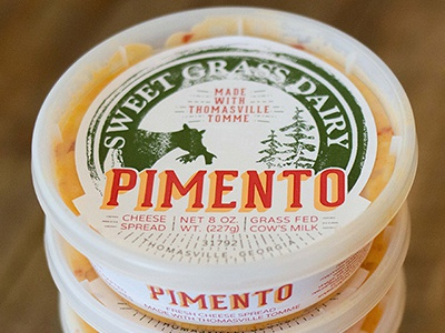 New Cheese Labels! cheese labels redesign pimento dairy cows