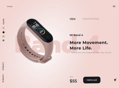 mi band 4 art ui website minimal ux web logo design
