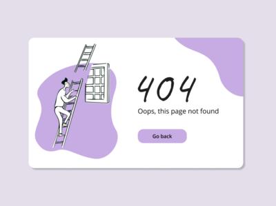 404 website ux illustration web art 008 dayliui daily ui minimal ui design