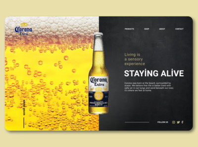 Redesign beer 🍺 website redesign ux web ui minimal design