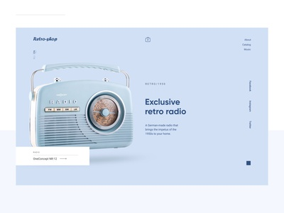 Retro radio Website