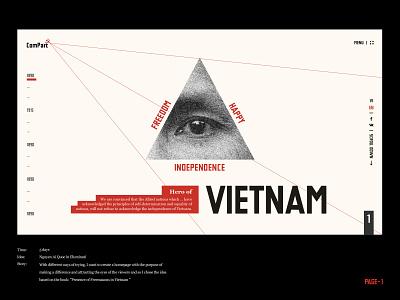 "Vietnam - HoChiMinh (""Russia Style"") shape typography ho chi minh 30-4 timeline illuminati russia style vietnam communist history"
