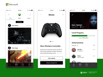 Xbox - Game management (Redesign) redesign concept blur 3d rectangle microsoft management app xbox fluent design