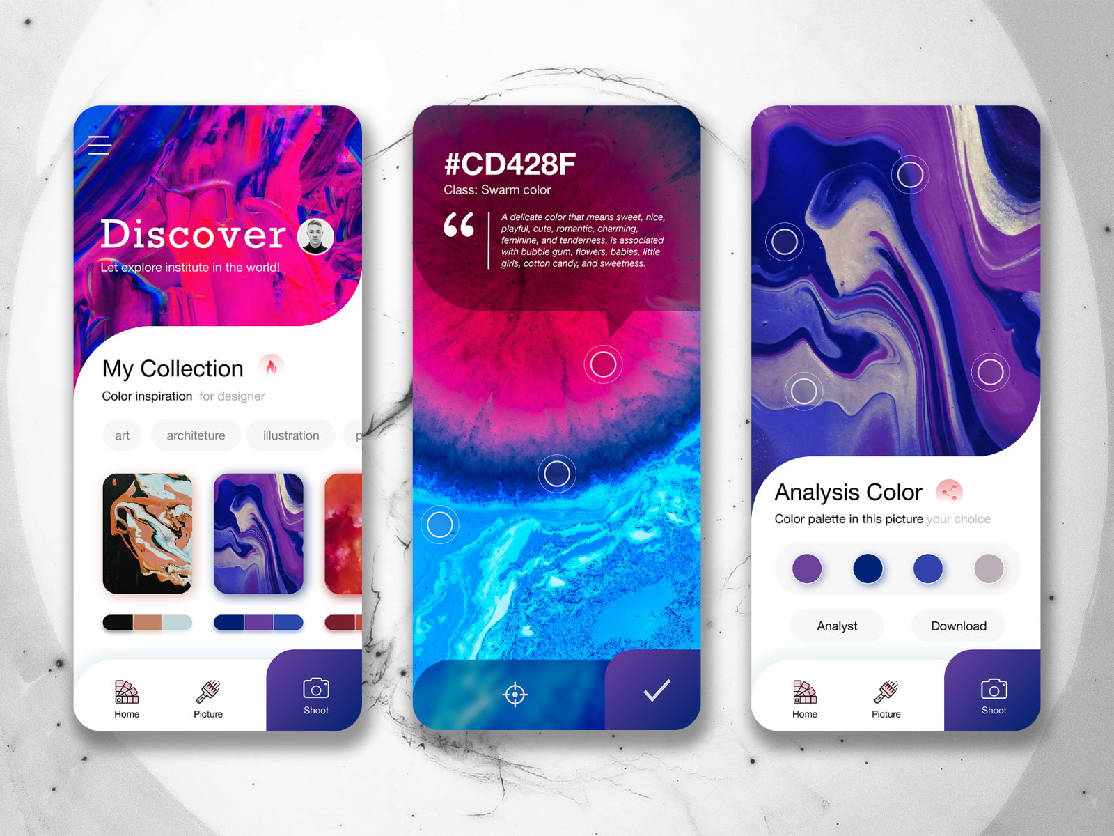 """Application Color Palette - """"Water Color"""" by Famer on Dribbble"""