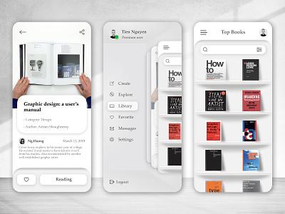 Book Social Network grey white serif clean page design 3d bookshelf book