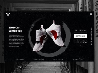 "Adidas originals X Farmer - NMD CS1 ""Koi Fish"" zen black and white koi nmd adidas"