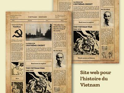 "VietNam History - ""Paper 1940s"" figma history dang cong san ho chi minh vietnam black and white paper"
