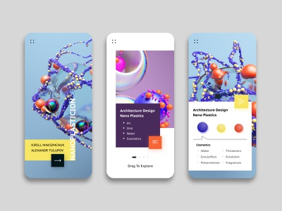 Chemistry Application - UI chemistry monoplastic colors figma