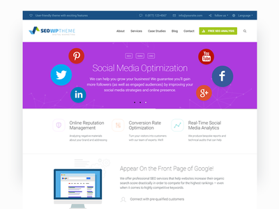 SEO WP — Social Media and Digital Marketing Agency optimized fast user-friendly clean design agency marketing digital social media theme wordpress seo