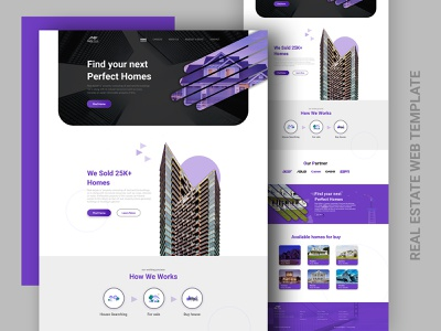 🏠 Real Estate Web Template Design landing page design homepage psd template website design web design renting real estate property interior house hotel flat filter cards booking apartment ux ui ui ux design ui ux