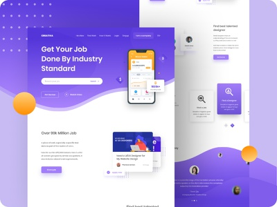 Creative Agency Website Template freelancer website job website agency branding agency landing page agency website creative agency saas landing page saas app saas website figma template clean design branded website website design ux ui web web design psd template homepage
