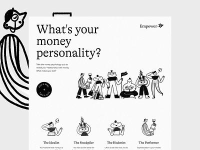 Empower's Financial Quiz website finance app fintech quiz landing page finance