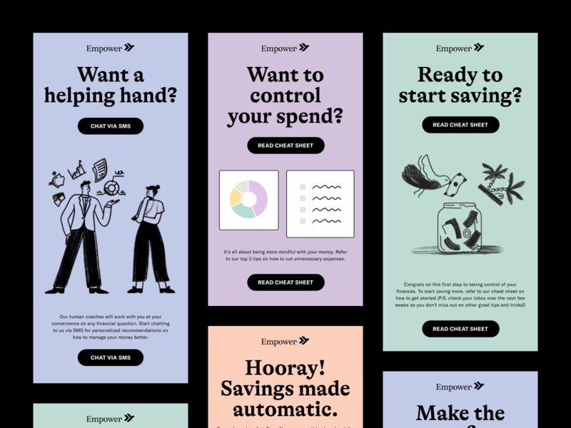 Empower Email Templates startup fintech app finance app finance newsletter email campaign communication email marketing email template email design