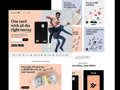 New Website! brand finance debitcard card web design website landing page startup fintech finance app