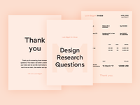 Personal brand - Invoice and Questionnaire