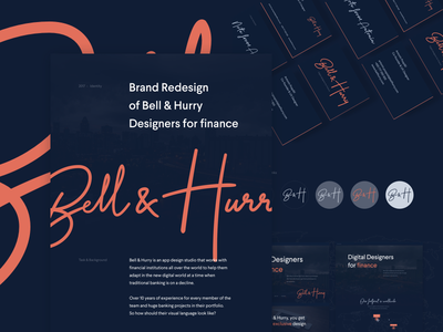 Bell & Hurry Case study case study finance branding logo identity website business cards behance