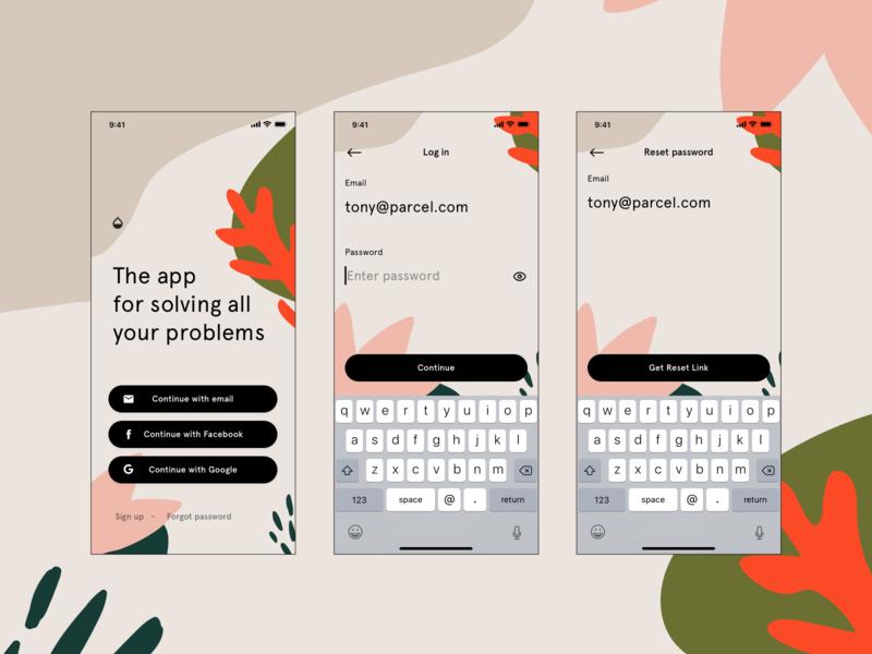 Mason - App templates pt.3 ux ui ios social media dashboard iphone x sign up feed log in app pattern
