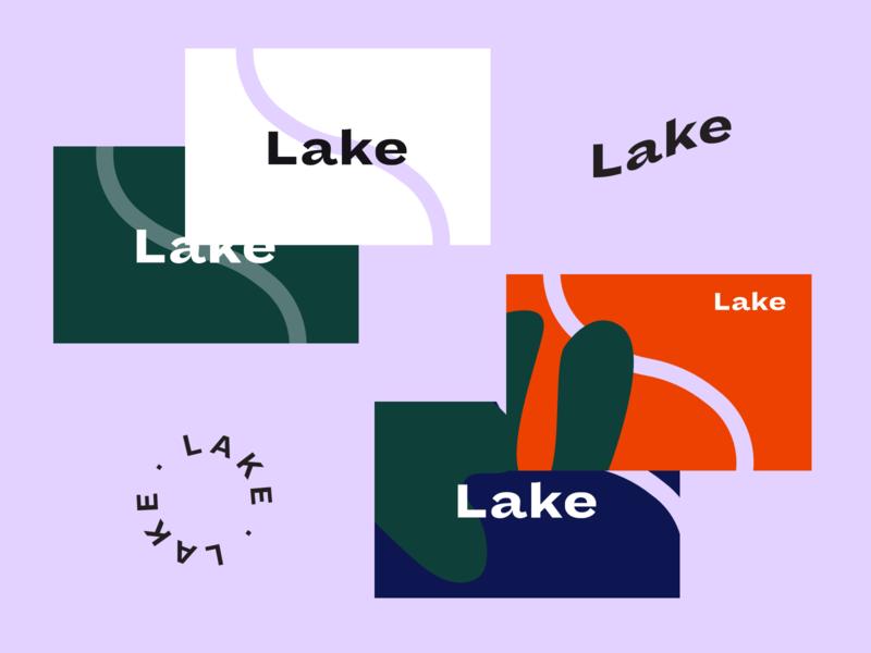 Lake Wealth visual exploration v2 branding brand guide business card rebranding presentation manual finance identity design exploration mark logo design