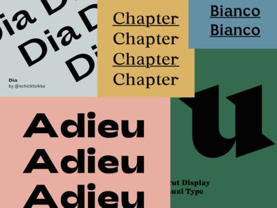 Favorite fonts series on Instagram