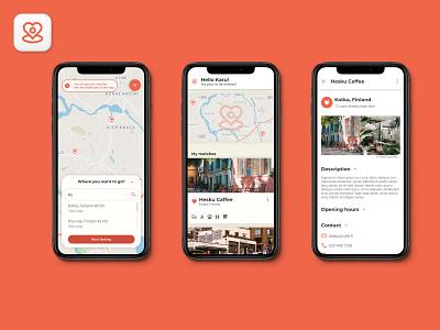 Small Business Finder App with Gamification prototype branding app design map logo app design ui