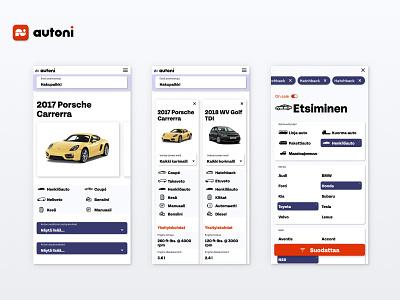 Car Leasing Website Design auto compare filter leasing car website web branding ux ui