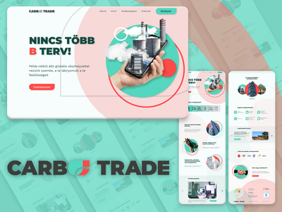 Carboo Trade landing page logo illustration ui icon website web ux branding design