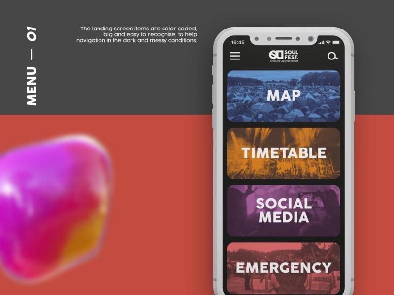 Soul Fest. Mobile UX/UI Design website icon web branding design ux ui