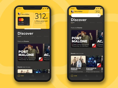MasterCard Loyalty App ticket event card app branding ux ui design
