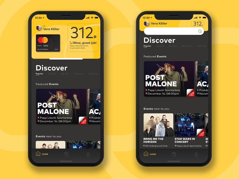 MasterCard Loyalty App ticket event card app branding ux ui design