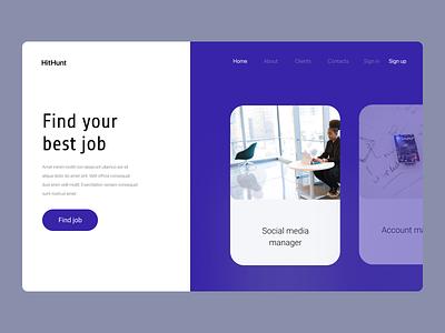HitHunt webdesign website manager office work job