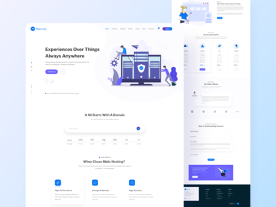 Mailhost- Web Domain and Hosting Template