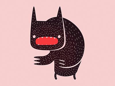 Demon Bear claws lines hair bear demon character design illustration