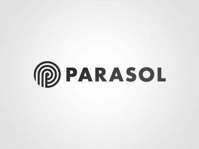 Logo Parasol logo parasol black  white