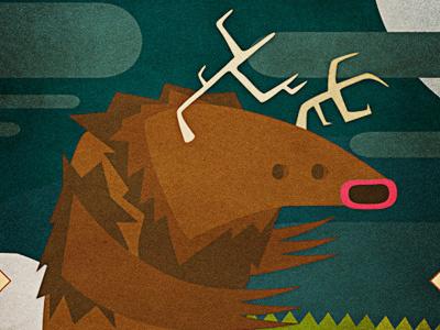Lands - Boneater character design illustrator moon beast antler monster