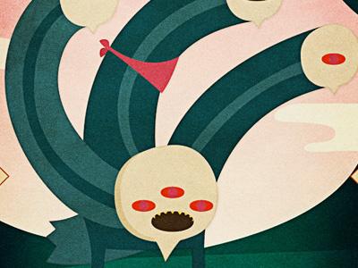Lands - Bonemonster character design illustrator monster bones