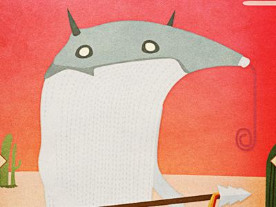 Lands - Antspearer character design illustrator illustration monster spear anteater