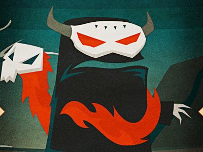 Lands - Devil Spirit & Jinx character design illustrator illustration monster spirit snake skull fedora devil horns