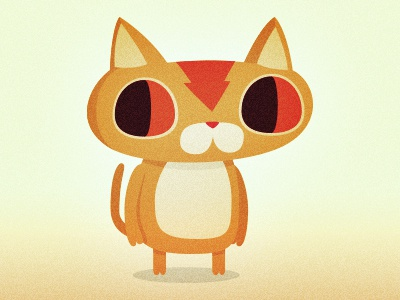 Cat character design cat illustration mascot pet orange