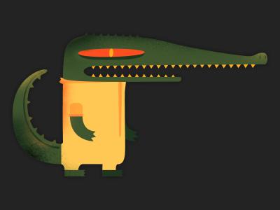 Crocodile character design illustration vector crocodile