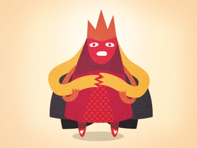 Hideous Snake Queen character design queen princess illustration snake hair crown ladybug blonde vector