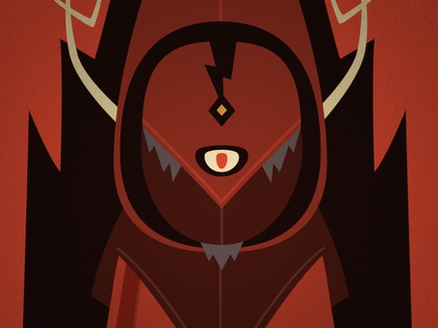 Cultist character design illustration vector cult cultist lightning cyclops